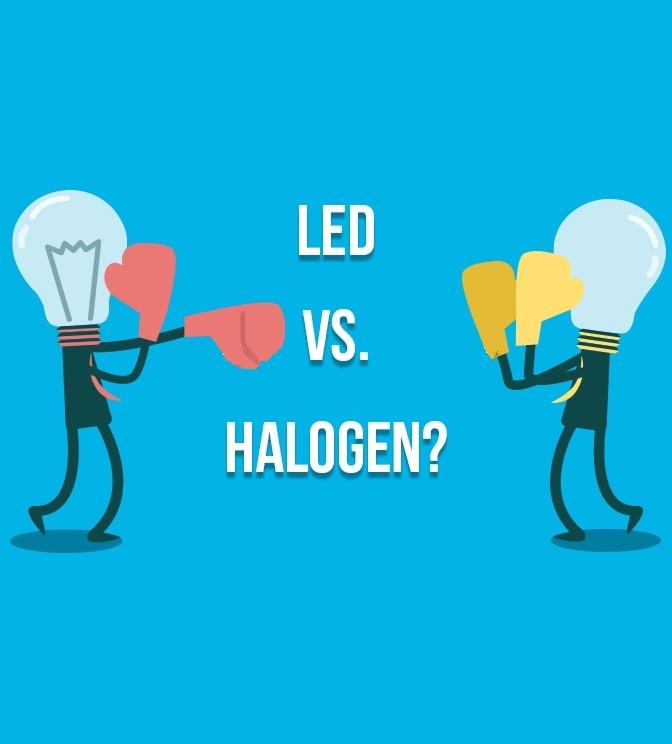 Halogén vs. LED izzós filmkiértékelő lámpák