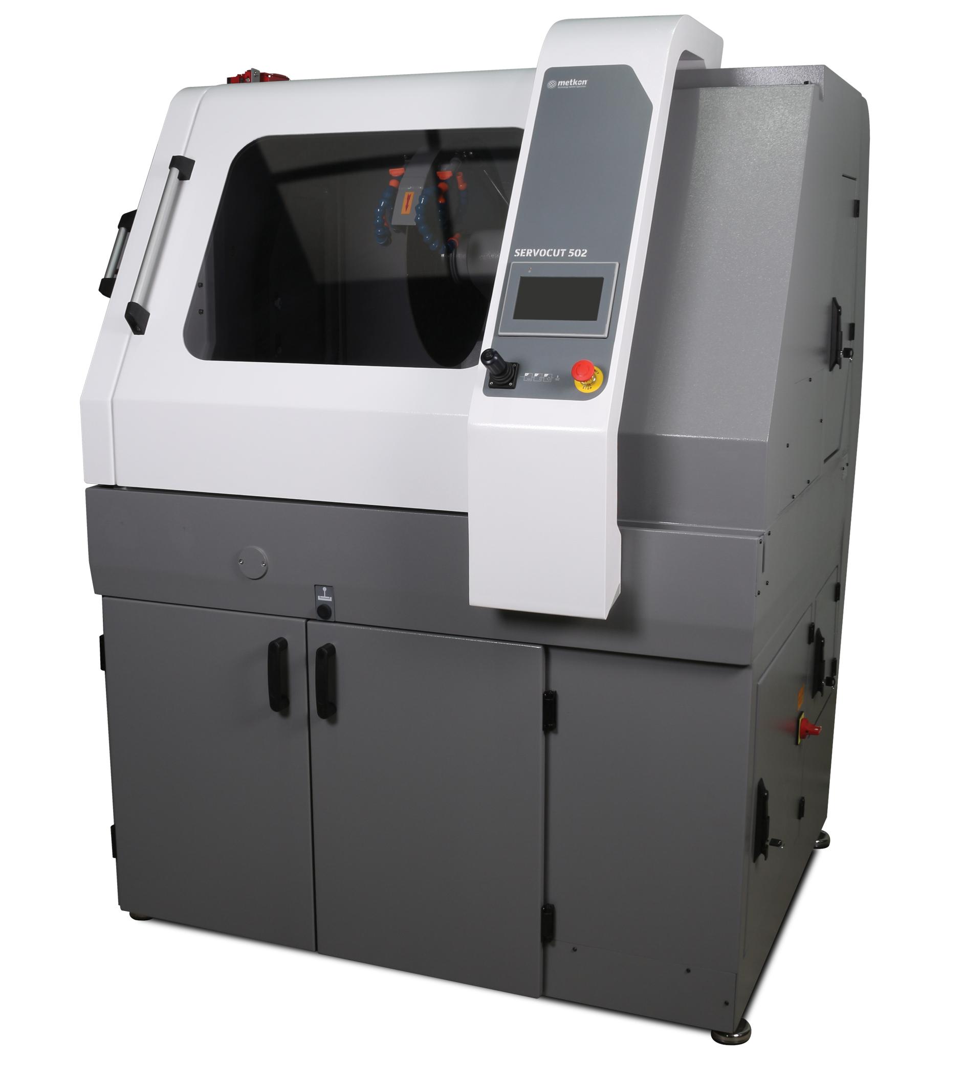 ServoCut 502 automata, abrazív vágógép nagy méretű mintákhoz
